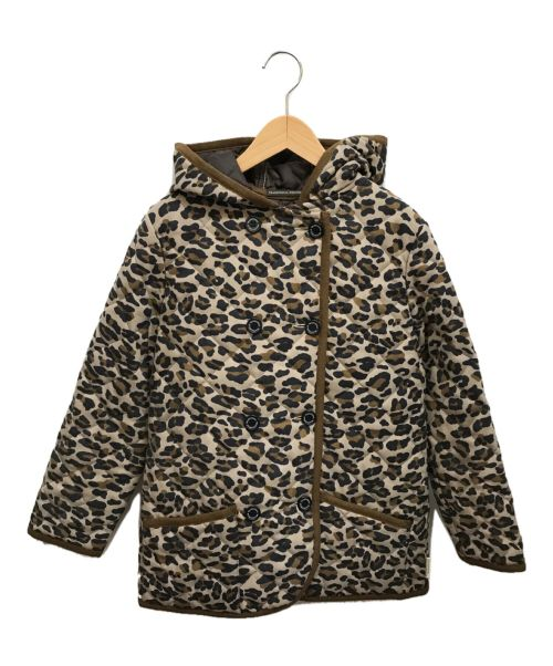 Traditional Weatherwear(トラディショナルウェザーウェア)Traditional Weatherwear (トラディショナルウェザーウェア) レオパードキルティングジャケット ブラウン サイズ:36の古着・服飾アイテム