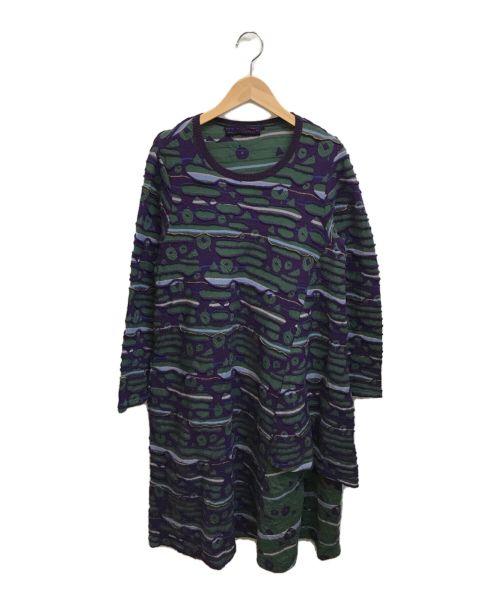 M.&KYOKO(エムアンドキョウコ)M.&KYOKO (エムアンドキョウコ) 3Dニットワンピース グリーン サイズ:1の古着・服飾アイテム