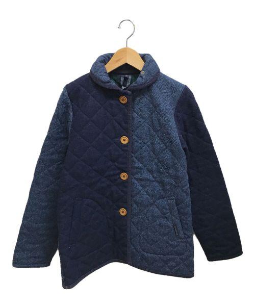 LAVENHAM(ラベンハム)LAVENHAM (ラベンハム) クレイジーキルティングジャケット ネイビー サイズ:38の古着・服飾アイテム