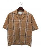 STUDIO NICHOLSON()の古着「オープンカラーシャツ」|ベージュ