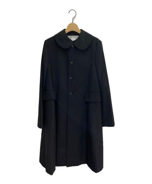 COMME des GARCONS COMME des GARCONS(コムデギャルソン コムデギャルソン)COMME des GARCONS COMME des GARCONS (コムデギャルソン コムデギャルソン) 丸襟フレアコート ブラック サイズ:Mの古着・服飾アイテム