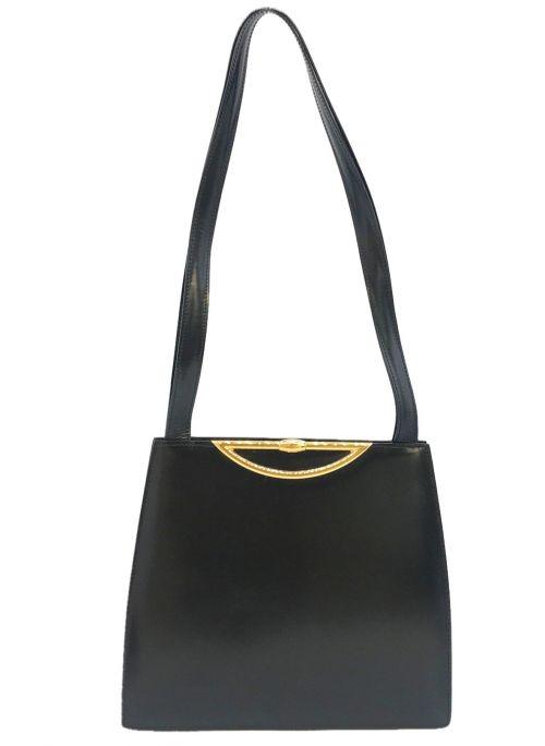 CELINE(セリーヌ)CELINE (セリーヌ) [OLD]ターンロックレザートートバッグ ブラック サイズ:表記なしの古着・服飾アイテム