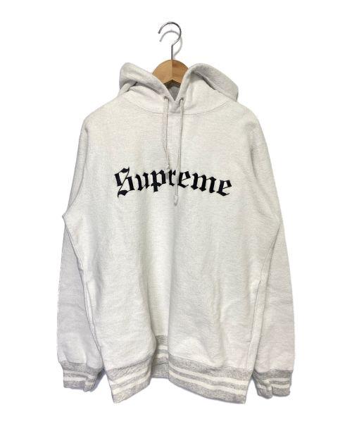SUPREME(シュプリーム)SUPREME (シュプリーム) Reverse Fleece Hooded Sweatshi ホワイト×グレー サイズ:Sの古着・服飾アイテム