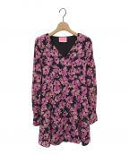 Kate Spade()の古着「floral chiffon dress 」|ブラック