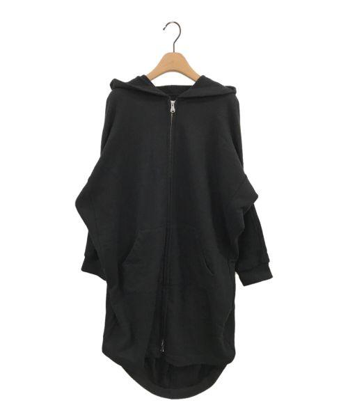 LIMI feu(リミフゥ)LIMI feu (リミフゥ) ヘンケイジップパーカー ブラック サイズ:Sの古着・服飾アイテム