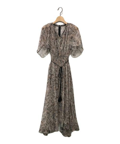 CELFORD(セルフォード)CELFORD (セルフォード) ハーバルフラワープリントドレス ブラウン サイズ:36の古着・服飾アイテム