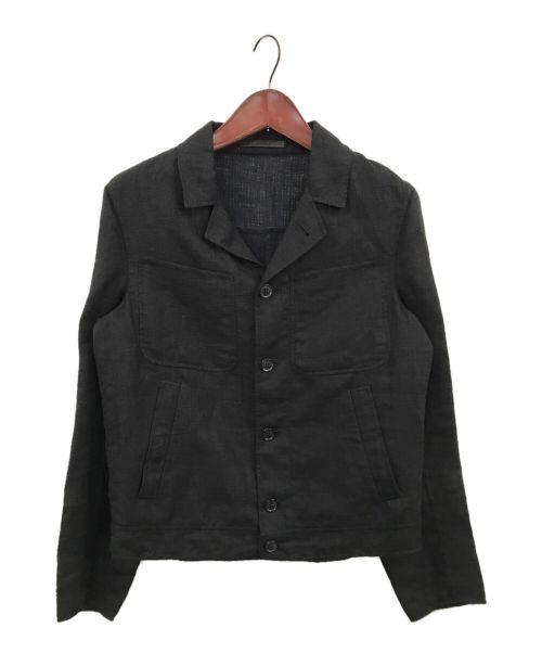 CARUSO(カルーゾ)CARUSO (カルーゾ) ダブルフェイスブルゾン ブラック サイズ:48の古着・服飾アイテム