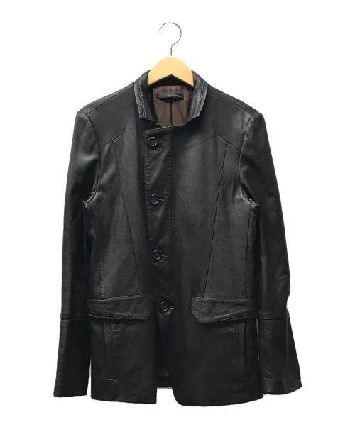 WOO YOUNG MI(ウーヨンミ)WOO YOUNG MI (ウーヨンミ) レザージャケット ブラウン サイズ:44の古着・服飾アイテム