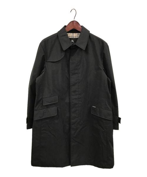 BURBERRY BLACK LABEL(バーバリーブラックレーベル)BURBERRY BLACK LABEL (バーバリーブラックレーベル) ステンカラーコート ブラック サイズ:LLの古着・服飾アイテム