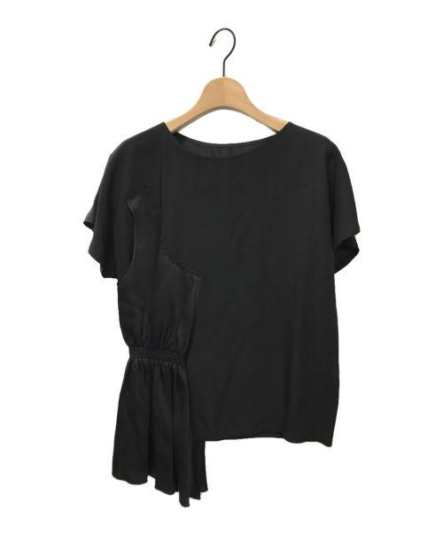 MM6 Maison Margiela(エムエムシックス メゾン マルジェラ)MM6 Maison Margiela (エムエムシックス メゾン マルジェラ) 半袖ブラウス ブラック サイズ:36の古着・服飾アイテム