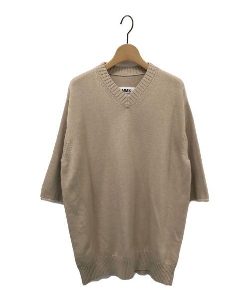MM6 Maison Margiela(エムエムシックス メゾン マルジェラ)MM6 Maison Margiela (エムエムシックス メゾン マルジェラ) エルボーパッチニット ベージュ サイズ:Sの古着・服飾アイテム