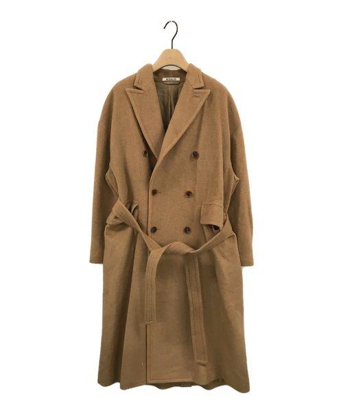AURALEE(オーラリー)AURALEE (オーラリー) DOUBLE-BREASTED COAT ブラウンの古着・服飾アイテム