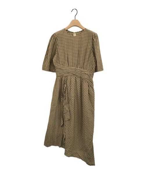 muller of yoshiokubo(ミュラーオブヨシオクボ)muller of yoshiokubo (ミュラーオブヨシオクボ) チェックワンピース ブラウン サイズ:38の古着・服飾アイテム