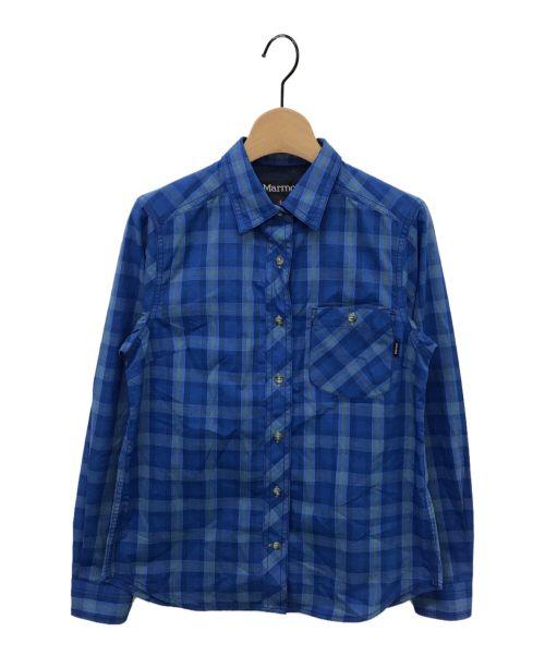 MARMOT(マーモット)MARMOT (マーモット) チェックシャツ ブルー サイズ:S 未使用品の古着・服飾アイテム