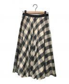 ANAYI()の古着「ビスコースチェックフレアスカート」