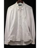 COMMEdesGARCONSHommePlus(コム デ ギャルソン オム プリュス)の古着「クロス切り替えシャツ」 ホワイト