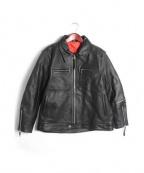 FREEDOM(フリーダム)の古着「シングルライダースジャケット」|ブラック