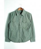 save khaki united(セーブカーキユナイテッド)の古着「ワークシャツ」|カーキ