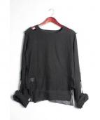 666(シックスシックスシックス)の古着「MuslinTop/ガーゼシャツ」|ブラック