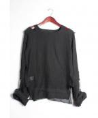 666(トリプルシックス)の古着「MuslinTop/ガーゼシャツ」|ブラック