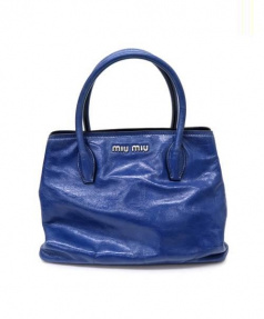 MIUMIU(ミュウミュウ)の古着「2WAYショルダーバッグ」|ブルー