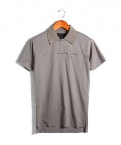 ripvanwinkle(リップバンウィンクル)の古着「ジップポケットポロシャツ」|グレー