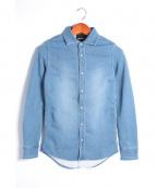 RIP VAN WINKLE(リップヴァンウィンクル)の古着「SWEAT DENIM SHIRT/シャツ」|ブルー