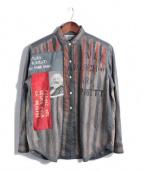 PEEL&LIFT(ピールアンドリフト)の古着「アナーキーシャツ」 グレー