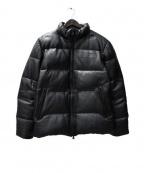 NITRAID(ナイトレイド)の古着「レザーダウンジャケット」 ブラック