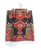 GIVENCHY(ジバンシィ)の古着「フロントボタンスカート」|レッド