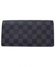 LOUIS VUITTON(ルイヴィトン)の古着「2つ折り長財布」|グラフィット(ブラック×グレー)