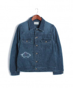 Seagreen(シーグリーン)の古着「CORDUROY JEAN JKT/ジャケット」|ネイビー