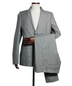 STEPHAN SCHNEIDER(ステファン・シュナイダ)の古着「ナローラベルセットアップスーツ」|グレー