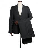 STEPHAN SCHNEIDER(ステファン・シュナイダ)の古着「ラインセットアップスーツ」|ダークグレー
