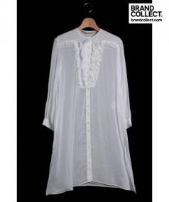 FRANCESCO SCOGNAMIGLIO(フランチェスコ スコニャミリオ)の古着「シルク混シャツワンピース」 ホワイト