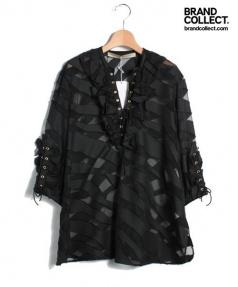 FRANCESCO SCOGNAMIGLIO(フランチェスコ スコニャミリオ)の古着「ブラウス」 ブラック