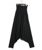 LIMI feu(リミフゥ)の古着「ベアトップサロペット」|ブラック