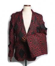 COMME des GARCONS(コムデギャルソン)の古着「総柄ホーリージャケット&ショートパンツ/セットアップスーツ」|レッド×ブラウン