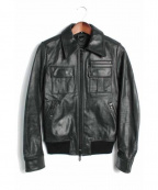 Galaabend(ガラアーベント)の古着「レザージャケット TIPE-A2」|ブラック
