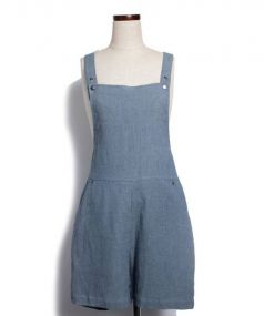 DESIGNERS REMIX(デザイナーズリミックス)の古着「サロペット/ロンパース」 ブルー