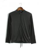 ato(アトウ)の古着「メッシュ切替トラックジャケット」|ブラック