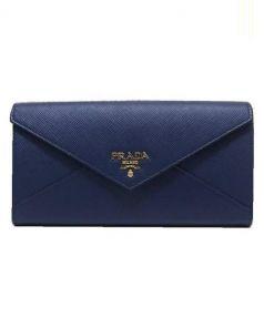 PRADA(プラダ)の古着「パスケース付長財布」|ネイビー