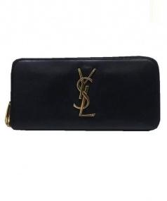 SAINT LAURENT PARIS(サンローラン パリ)の古着「ラウンドファスナー長財布」 ブラック