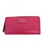 Kate Spade(ケイトスペード)の古着「wellesley/ラウンドファスナー長財布」|ピンク