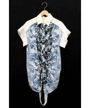ALEXANDER WANG(アレキサンダーワン)の古着「Botanical ombre shirt/フラワープリント」|アイボリー×ブルー