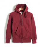 Engineered Garments(エンジニアードガーメン)の古着「裏サーマルジップパーカー」|エンジ