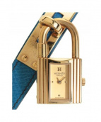 HERMES(エルメス)の古着「ケリーウォッチ」|ゴールド×ブルー