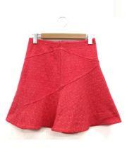 Marc by Marc Jacobs(マークバイマークジェイコブズ)の古着「ポンチドットフレアスカート」 ショッキングピンク