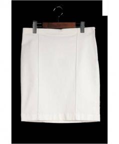 THE_ROW(ザロウ)の古着「 ストレッチタイトスカート」|ホワイト