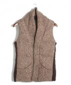 N4(エヌフォー)の古着「ショールカラーニットダウンベスト」 ブラウン